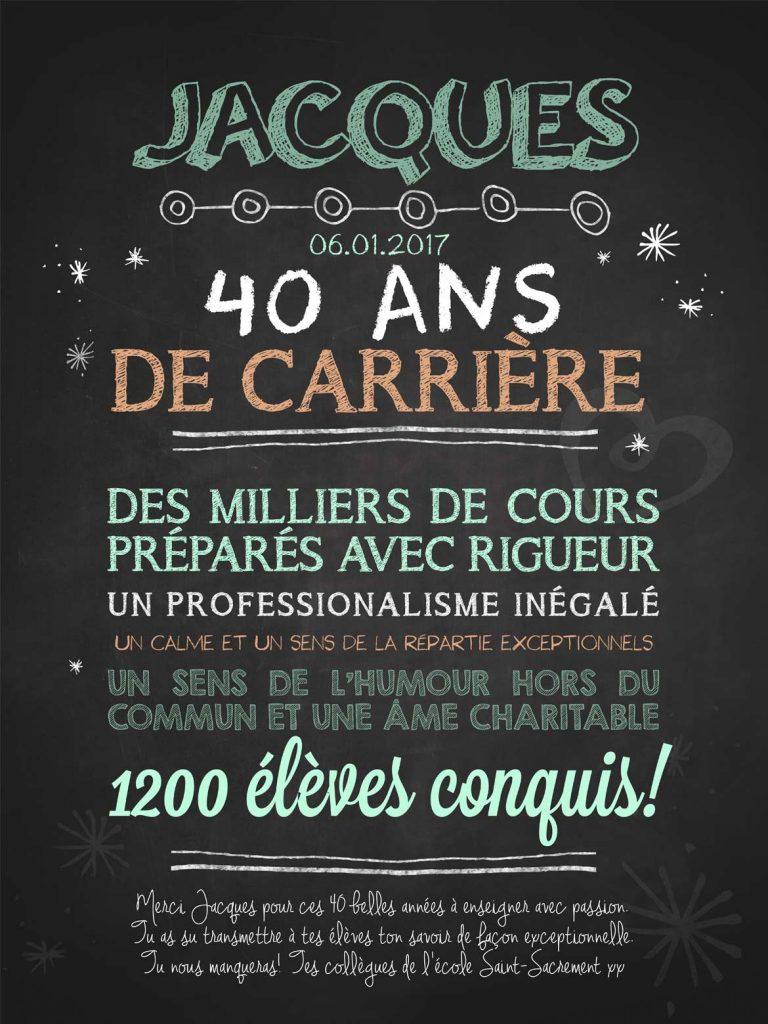 Affiche chalkboard Carrière spectaculaire - BLEU GRIS