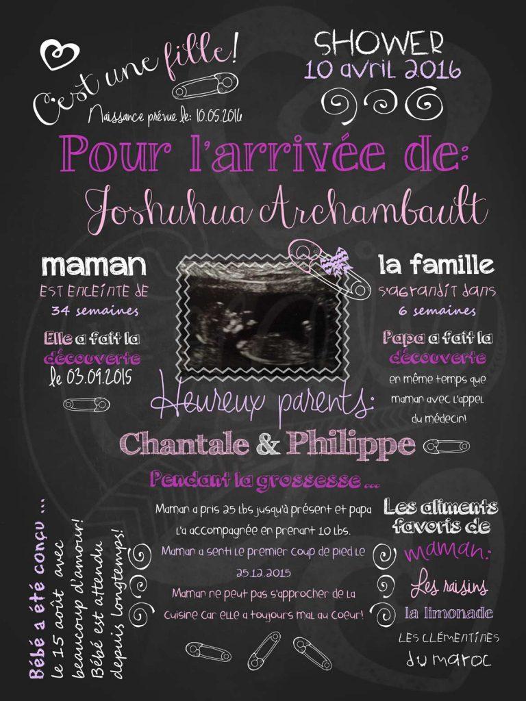 affiches personnalisees anniversaire naissance mariage With affiche chambre bébé avec fleurs anniversaire de mariage