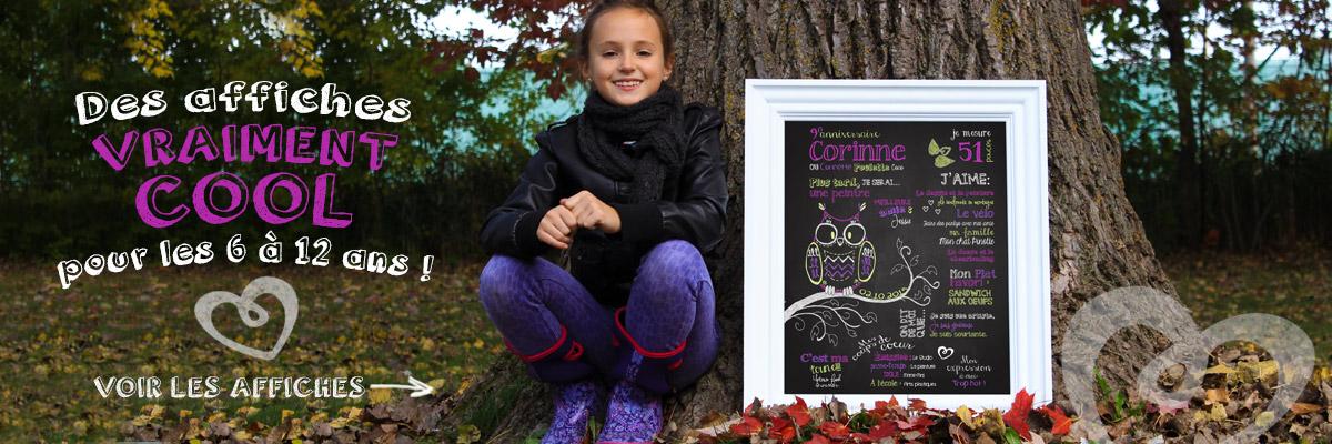 Des affiches anniversaire vraiment cool pour les 6 à 12 ans!
