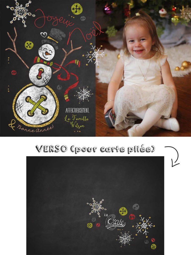 Carte de Noël Monsieur Bonhomme