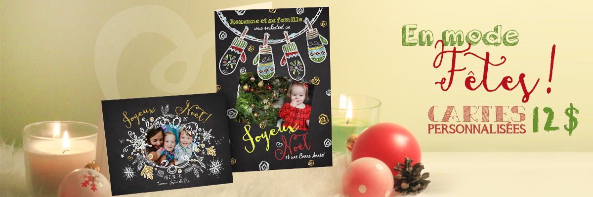 Découvrez nos jolies cartes de Noël personnalisées!