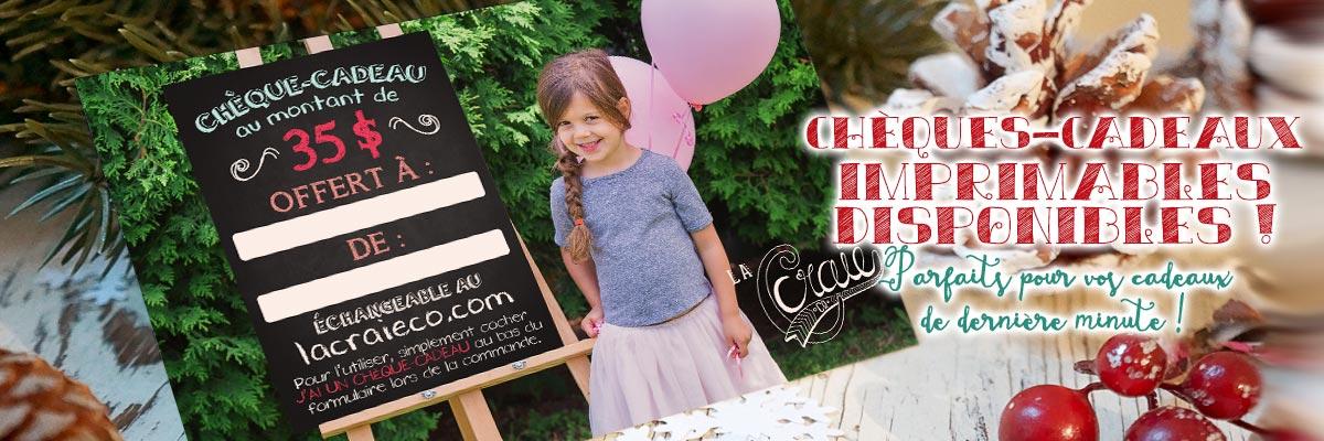 Chèques-cadeaux La Craie co. disponibles!