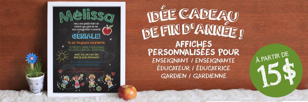 Idée cadeau de fin d'année pour enseignant(e), éducateur(trice) et gardien(ne) !